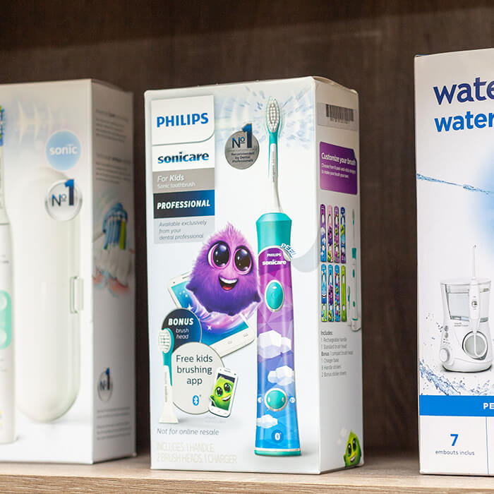 We offer various dental products that you can purchase in any of our dental offices.
